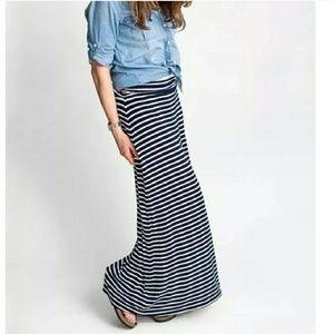 J. Crew Striped Maxi Skirt Size XS